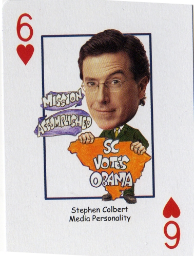 Colbert playing card